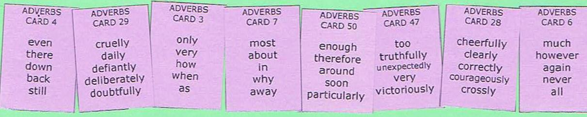 list of nouns verbs adjectives and adverbs for second graders