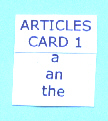 Sentence Master Practice Article Cards for English grammar article writing exercises