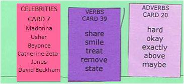 Sentence Master Practice Word Cards for English grammar writing exercises