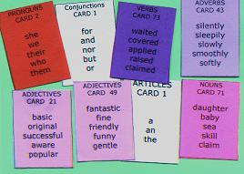 Sentence Master English Writing Practice Challenge 6a has 8 word cards to practice writing complete sentences