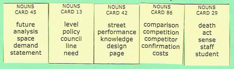 Sentence Master Practice Noun Cards for English grammar noun writing exercises